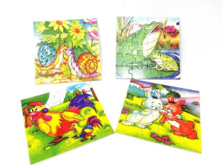 Çocuklar İçin Resimli Ahşap Puzzle