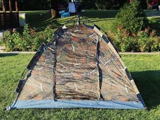 3 Kişilik Kamuflaj Desenli Otomatik Kamp Çadırı