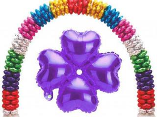 Kalp Şeklinde Çiçek Folyo Balon