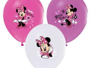 Minnie Baskılı Balon 100 Adet