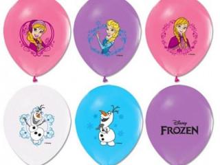 100 adet Karlar Ülkesi Elsa Baskılı Balon