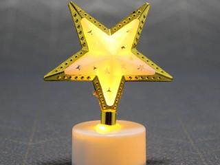 8 Adet Dekoratif Yıldız Tasarımlı Led Pilli Lamba