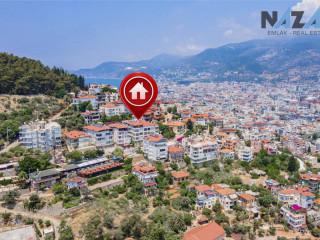 Çarşı Mahallesi'nde Manzaralı Satılık 3+1 Daire | 3+1 Flat for Sale with View on Alanya Castle Road