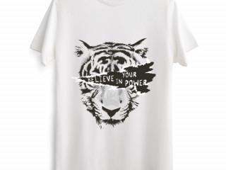 Believe in Your Power Tiger Tişört